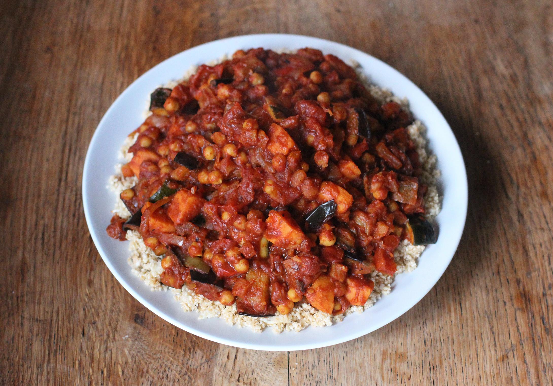 Roasted Vegetable & Chickpea Tagine