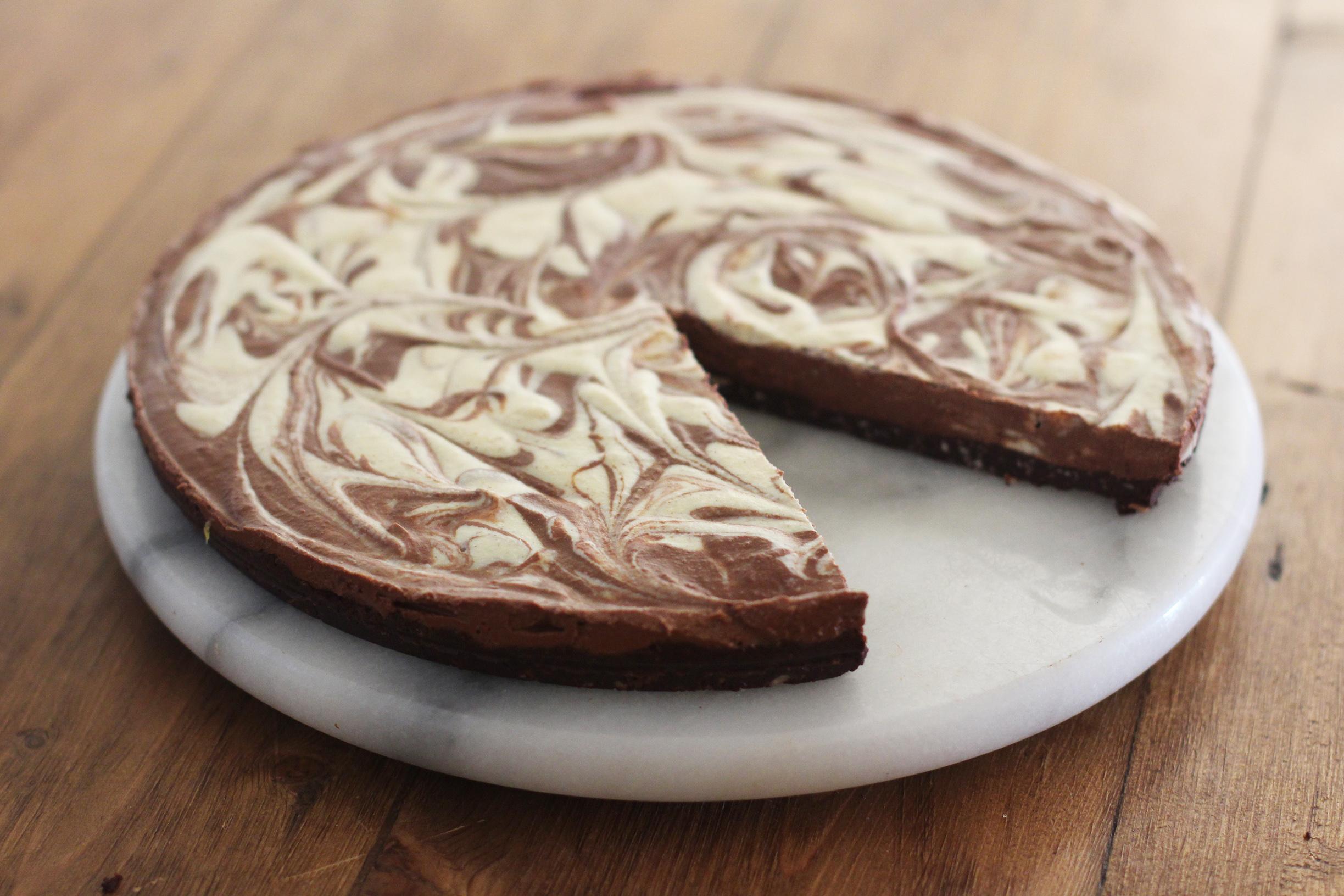 Marbled Chocolate Orange Tart