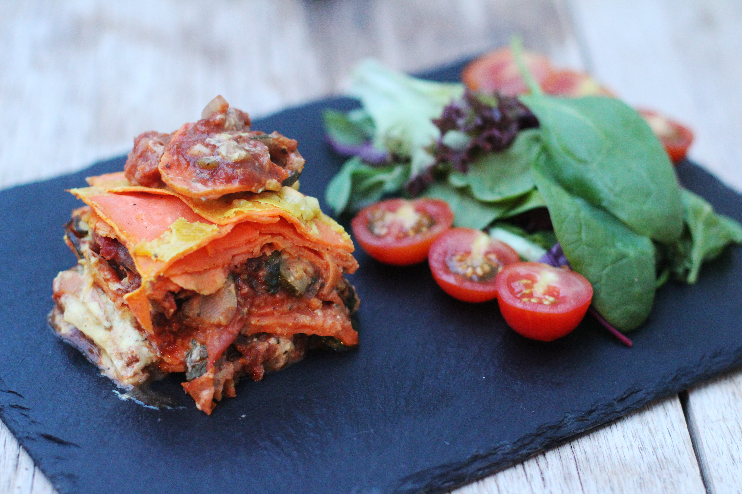 sweet potato & lentil lasagne