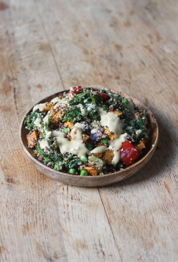 roasted vegetable quinoa