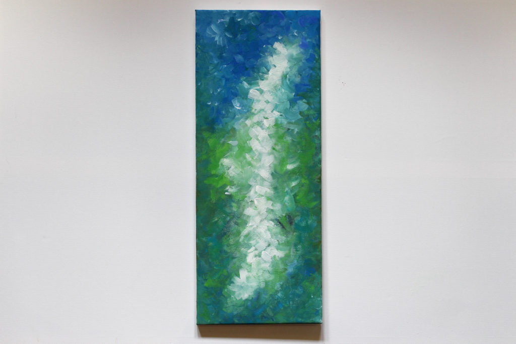 abstract blossom painting