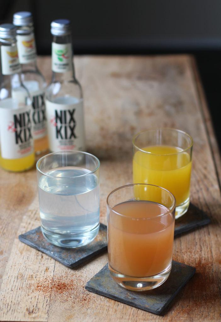 nix & kix peach and vanilla drink