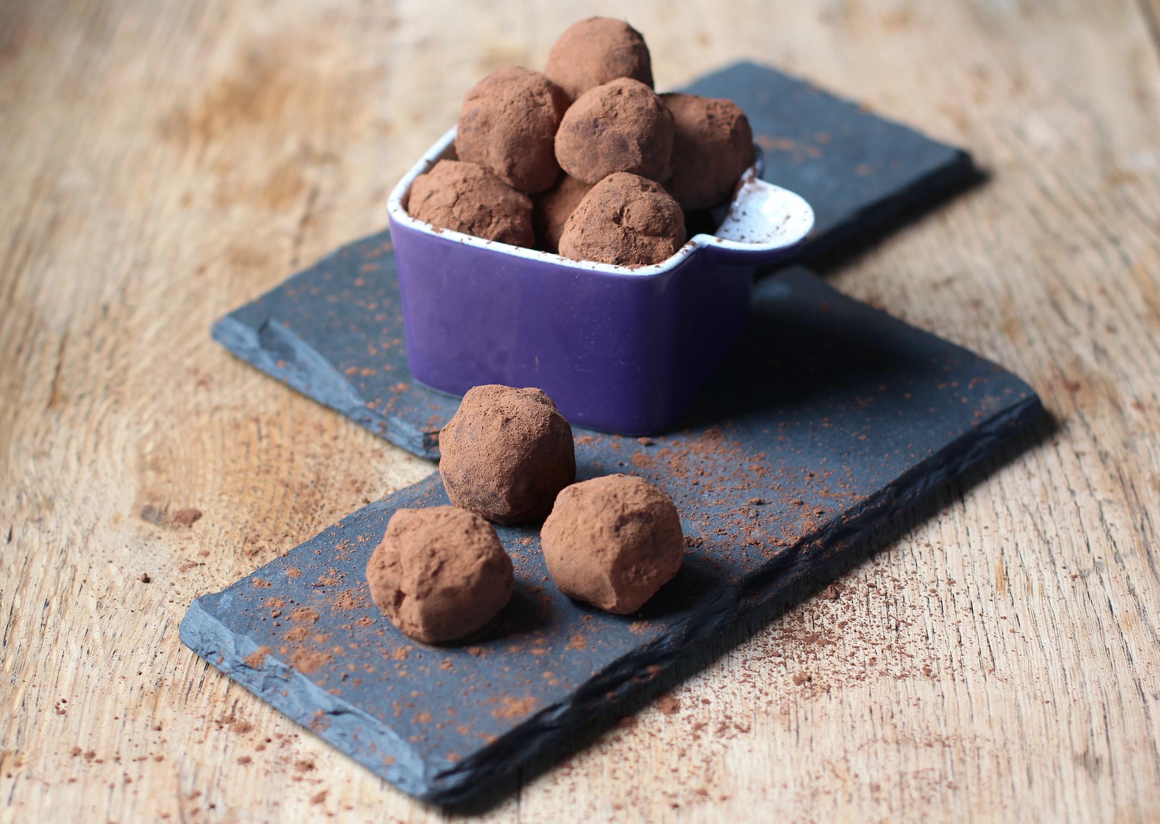orange and ginger chocolate truffles