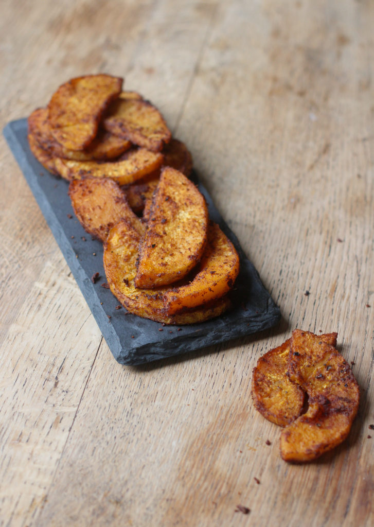 spiced butternut squash wedges