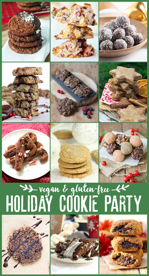 vegan and gluten free holiday cookie party
