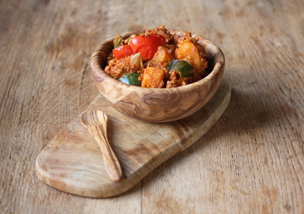 spicy vegetable buckwheat bowls