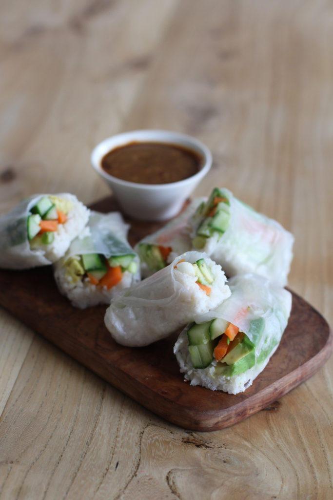 coconut rice sushi wraps