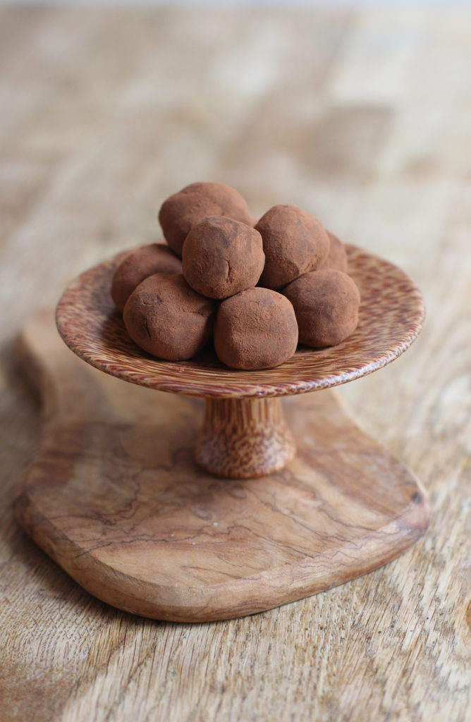 two ingredient chocolate truffles