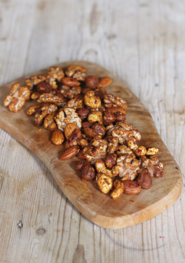 spiced roast nuts