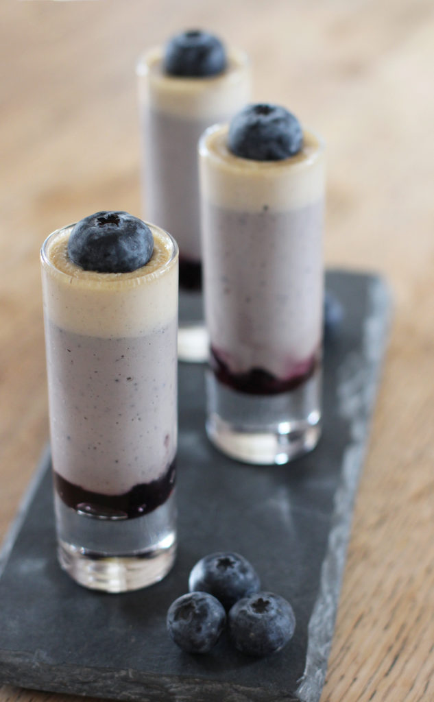 blueberry and vanilla posset